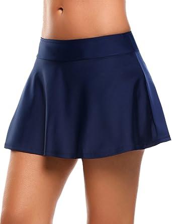05d9e30e7ef2fb Skine Badeshorts Damen Bikini Rock Strand Rock mit integrierter Hose Hohe  Taille Mini Bikinihosen Bottom Mit