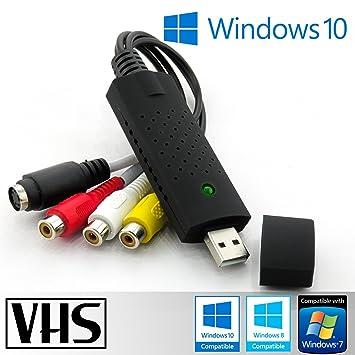 Jx2 - Adaptador de Tarjeta USB 2.0 EasyCap. Vídeo de Captura de Audio, VHS