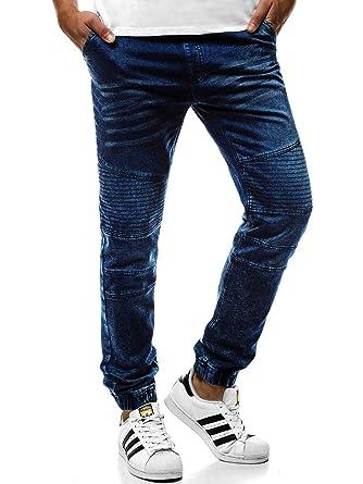 7ed4ab05a14c7b OZONEE Herren Jeans Baggy Jogg Jogger Jeanshose Hose Jogginghose Fitness  Sporthose Freizeithose 777 631S  Amazon.de  Bekleidung