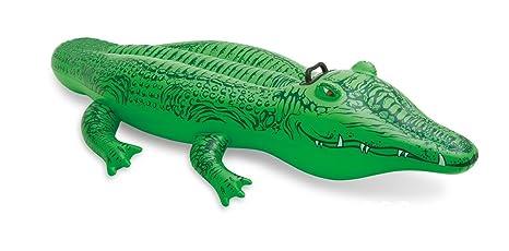 Meiren niños pvc inflable cocodrilo en todo el agua nadar anillo natación auxiliar