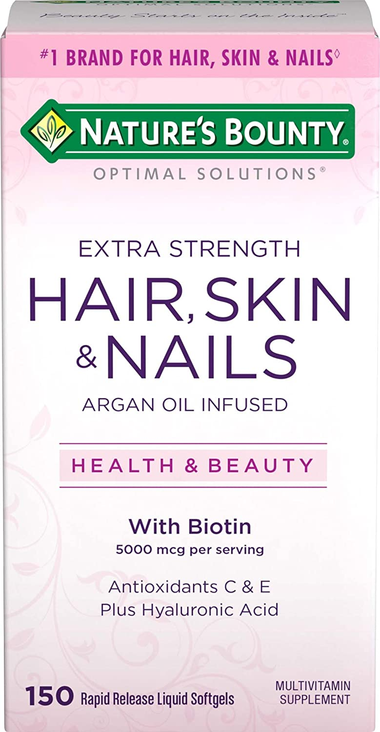 Amazon natures bounty optimal solutions hair skin nails amazon natures bounty optimal solutions hair skin nails extra strength 150 softgels multivitamin supplement with antioxidants c e health sciox Image collections