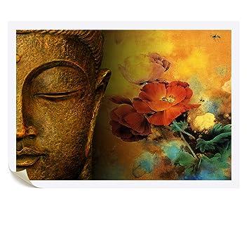 Amazon.com: Visual Art Decor DIY Modern Buddha Canvas Wall Art ...