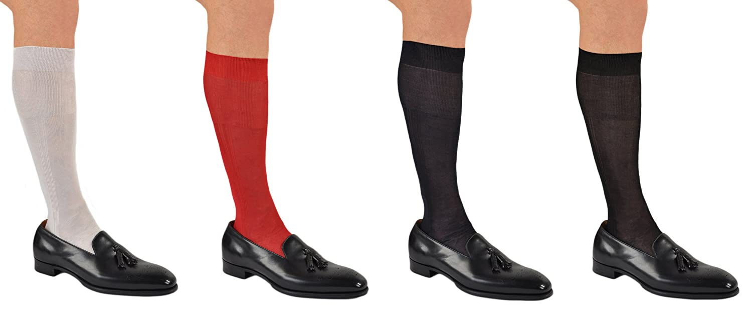 af7f8550e5311 Stunning Pure Silk Formal or Dress Over-the-Calf Socks at Amazon Men's  Clothing store: