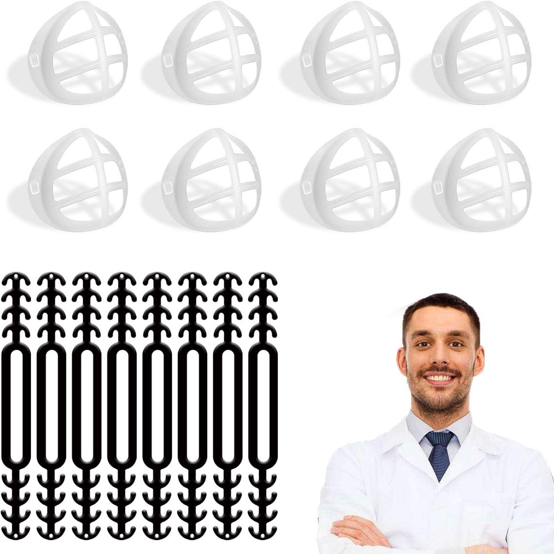 16PCS Marco de Soporte Interno para máscara,Aumento de la Distancia Entre la Nariz y la Boca-Puede Hacer Que la respiración Sea Suave