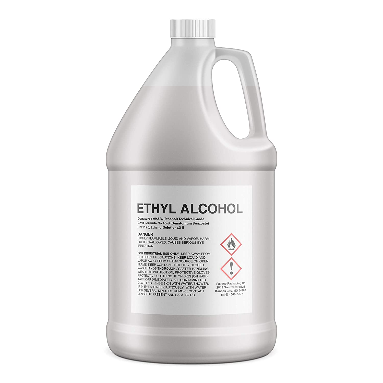 Ethanol 99.5% Denatured (Ethyl Alcohol),1-gallon (4-quarts)