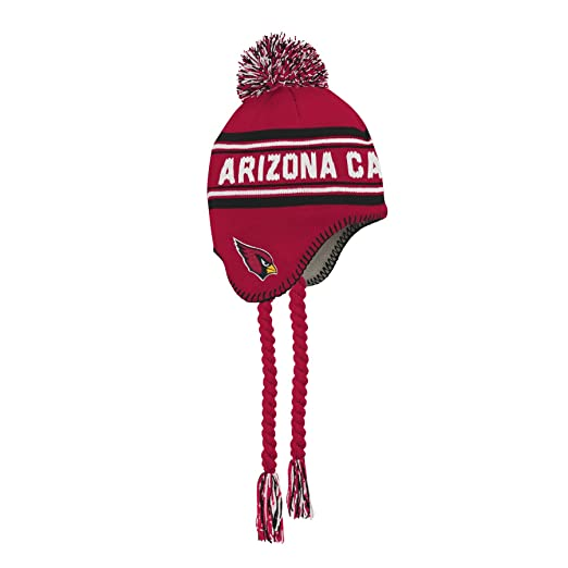 new products 1e40a 5bd4c Amazon.com   Outerstuff NFL Arizona Cardinals Jacquard Tassel Knit Hat with Pom  Cardinal, Youth One Size   Clothing