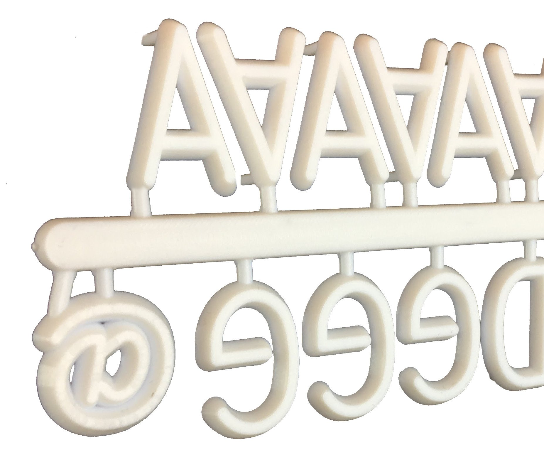 White Letters for Letter Board - 3/4 (.75) Inch - 380 Changeable Plastic Characters with Alphabet, Numerals, Punctuation, Symbols and Emojis - Perfect Add On for Your Letter Board - by Kefela