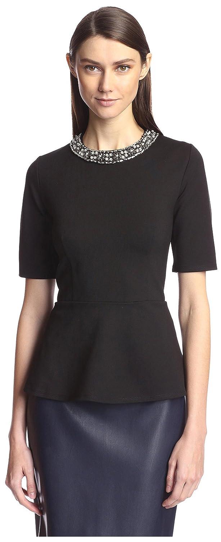 d3ae2e06c7ec3 Society new york womens elbow sleeve peplum top black clothing jpg 614x1500 Peplum  tops with sleeves