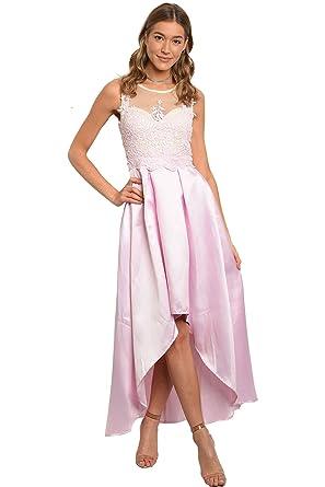 Lady Bling Bling Damen Abendkleid Mini Maxi Vokuhila A Linie