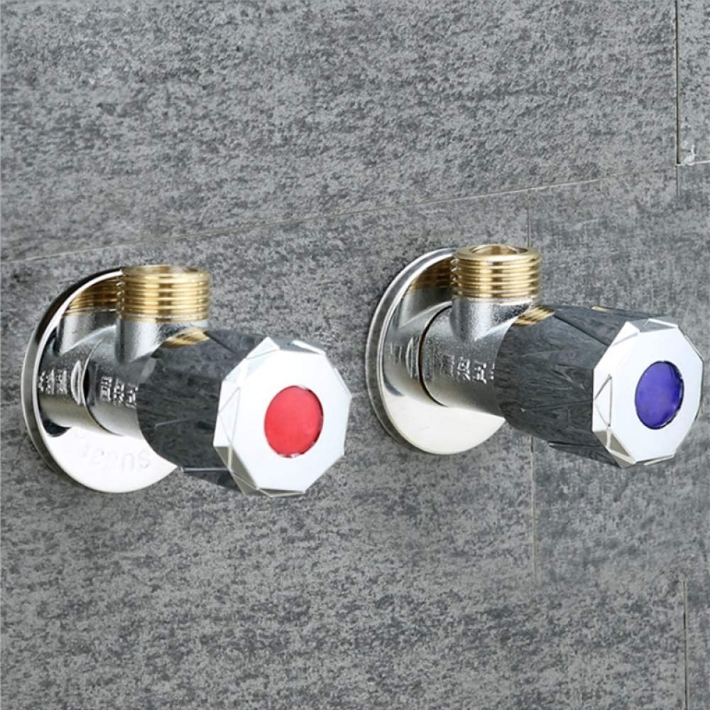 2 pezzi 1//2 maschio x 1//2 maschio valvola darresto angolo bagno ottone valvola cromata finitura