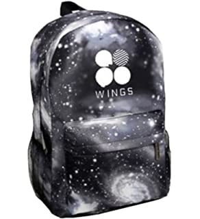 Kpop BTS Backpack Suga V Jin Jimin Rap-Monster Schoolbag Starry Sky Satchel