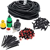 Himifuture 82FT Drip Irrigation System Sprinkler Plant Watering System Irrigation Kit for Outdoor Garden Green House Flower Lawn Using