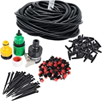 82FT Micro Drip Irrigation System Sprinkler Plant Watering Irrigation Kit for Outdoor, Flower, Lawn, Patio, Garden