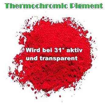 25 gramos Rojo 31 grados térmica activo térmica activo polvo Efecto Plasti DIP - Barniz 2 K gellack esmalte de uñas: Amazon.es: Coche y moto