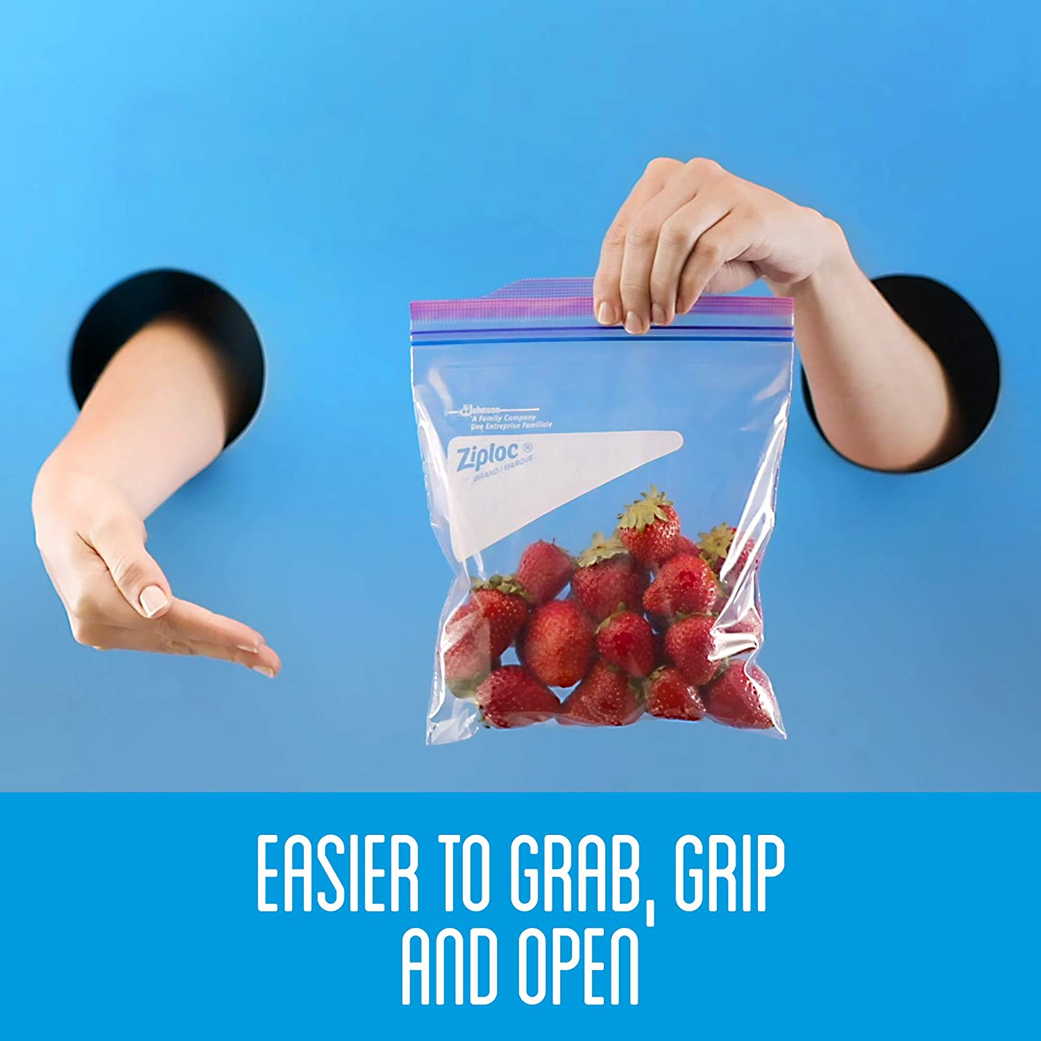 Ziploc Storage Bags with New Grip n Seal Technology For Food Sandwich Organization and More Gallon