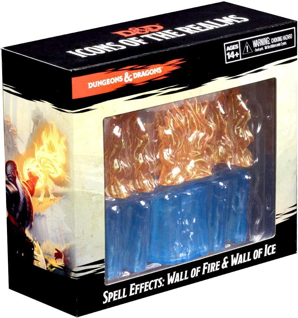 WizKids D&D Spell Effects: Wall of Fire & Wall of Ice Miniatures ...