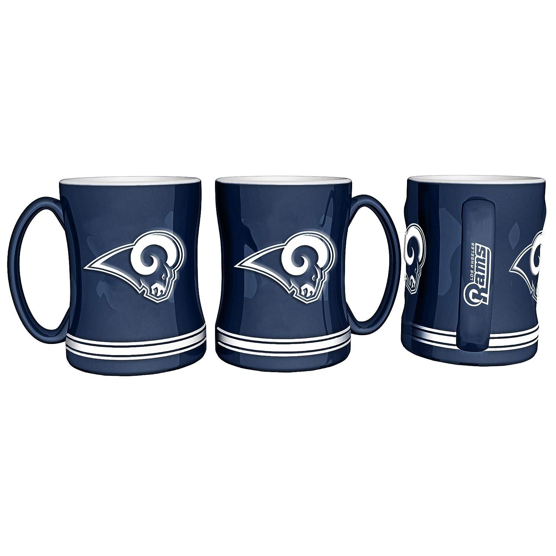 Boelter Brands NFL Los Anegles Rams Coffee Mug14oz Sculpted Relief 14 Ounce Team Color