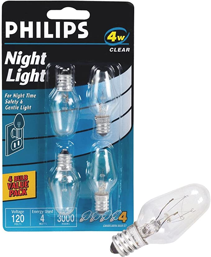 20-bulbs Everyday Living Incandescent White Night Light Bulbs 2000hrs 4W NEW