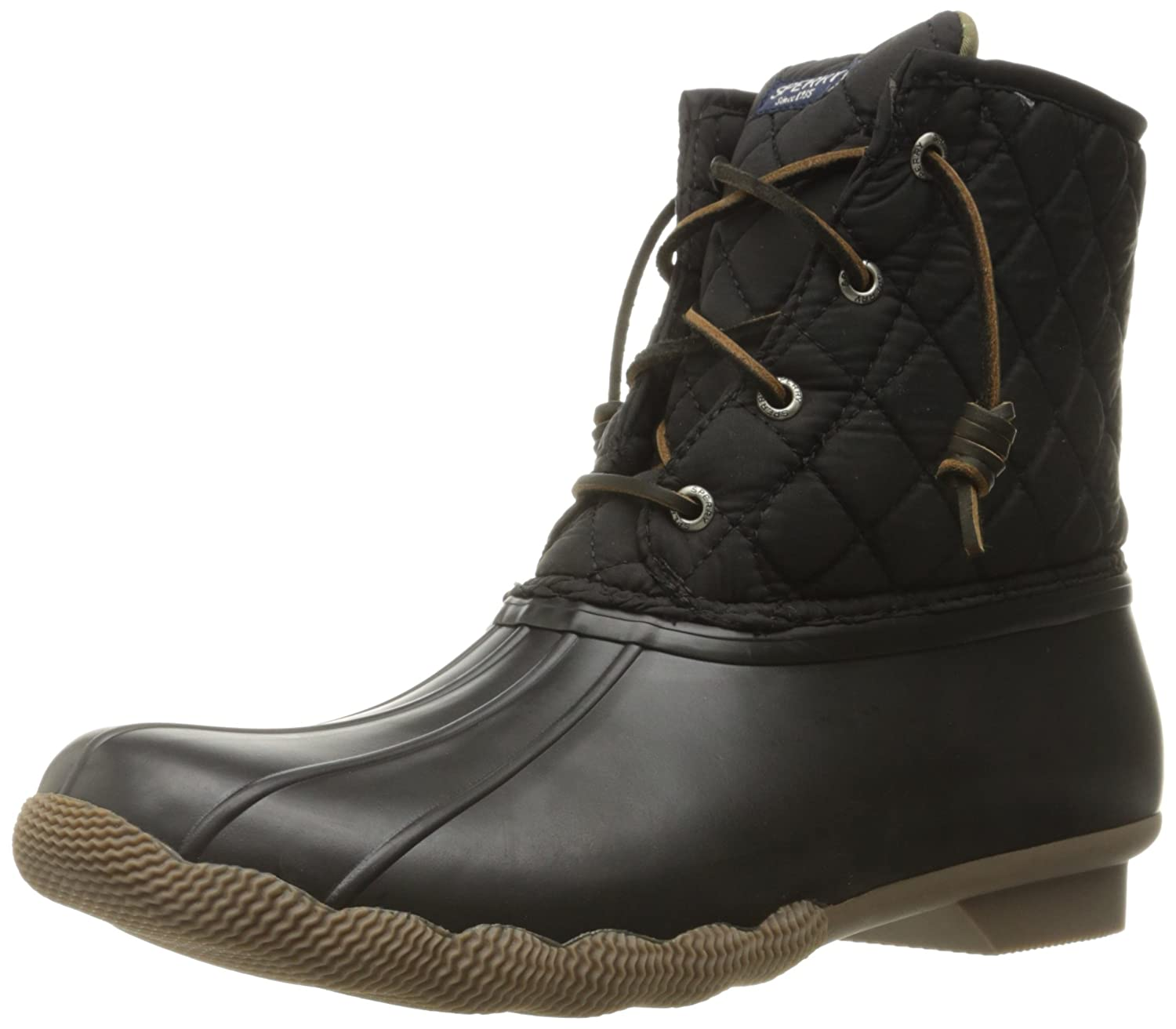 Sperry Women's Saltwater Boot B00QW4FFC6 5 B(M) US|Black Quilted