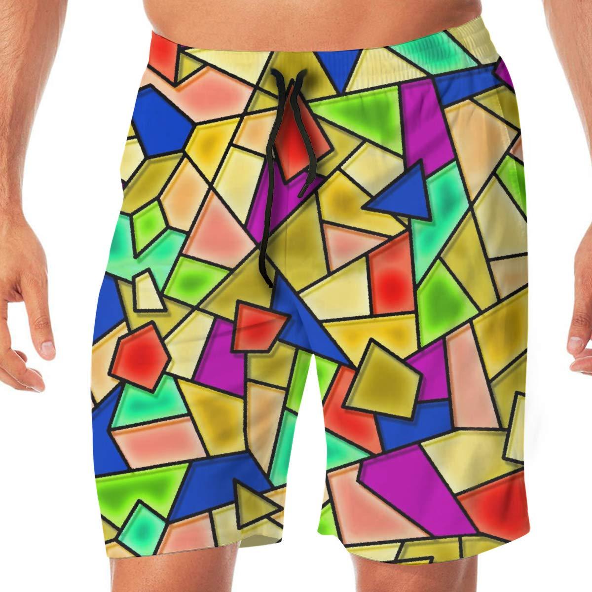 L Cbyan Beach Trunks Mens Swim Trunks Swimming Short with Pockets M XL XXL