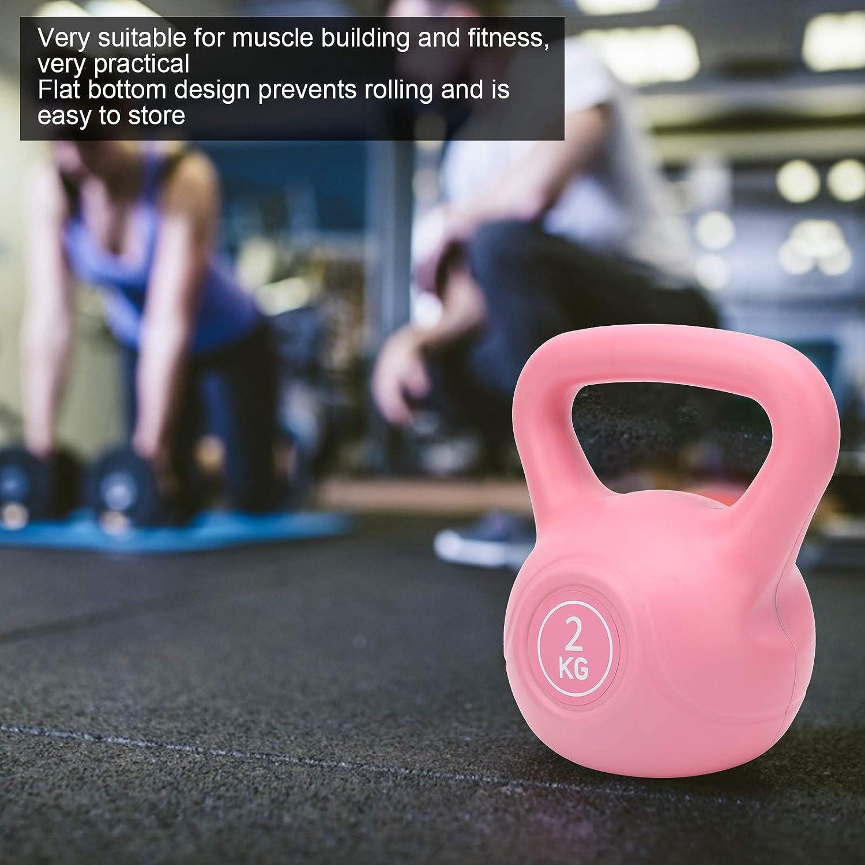 RiToEasysports Poids de Kettlebell de Remise en Forme dentra/înement de Levage de Bras de 2 kg Kettlebell avec poign/ée Extra-Large pour saccroupir