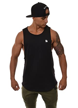 14bb6fe6313465 Amazon.com  YoungLA Long Tank Tops for Men Muscle Shirt Bodybuilding Gym  Athletic Training Sports Everyday Wear 306  Clothing