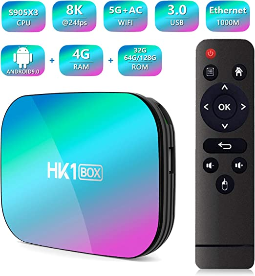WFGZQ Android 9.0 TV Box 2020Newest Android Box 4GB RAM 128GB ROM S905X3 Procesador Core Cortex-A53 Smart TV Box Admite 8K Resolución 3D 2.4Ghz WiFi Ethernet USB 3.0 Reproductor Multimedia,4gb+64gb: Amazon.es: Hogar