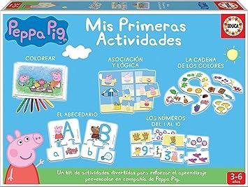 Comprar juego de mesa: Educa-Mis Primeras Actividades Peppa Pig: Colorear, asociación, abecedario y los números Juego Educativo para niños, a Partir de 3 años (17249)