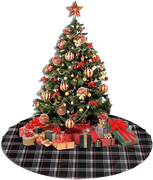 William Morris Strawberry Thief Christmas Tree Skirt with Velvet Xmas 36 inch
