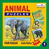 Creative Educational Aids 0701 Animal Puzzle No. 1 (4 to 10 Piece)