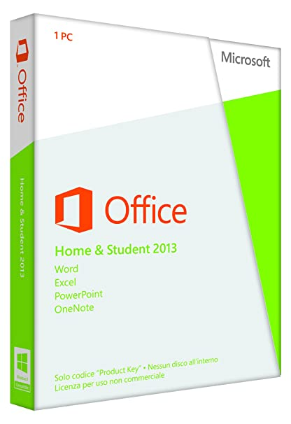 Microsoft Office Home and Student 2013, 32 andamp; 64 Bit  [Lingua: Italiano]