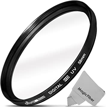 for Canon EOS Rebel T2i Haze 77mm 1A Multicoated UV Multithreaded Glass Filter