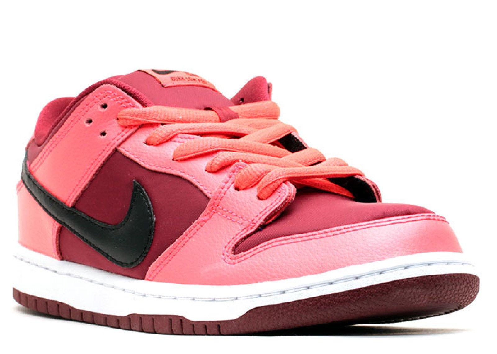 19f925ca2959 Galleon - Nike Mens Dunk Low Pro SB Laser Crimson Black-Team Red Leather  Skateboarding Size 9.5