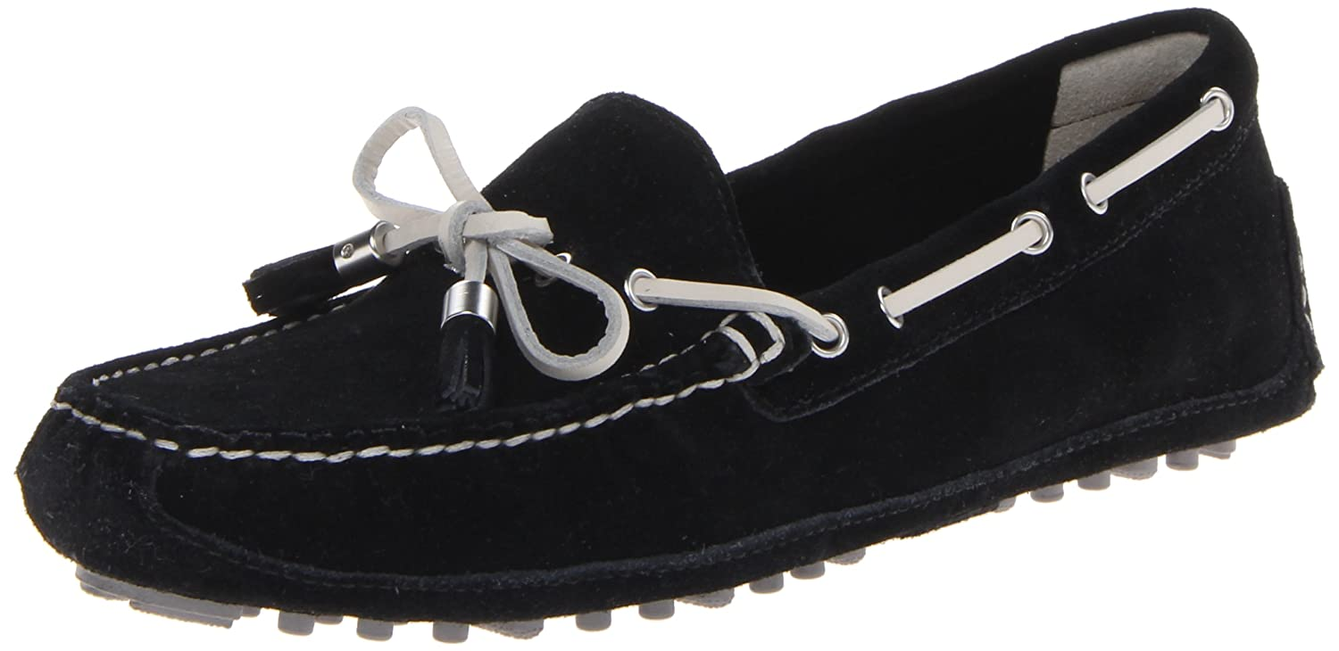 Cole Haan Women's Grant Moccasin B00EP76YMC 11 B(M) US|Black/White Suede