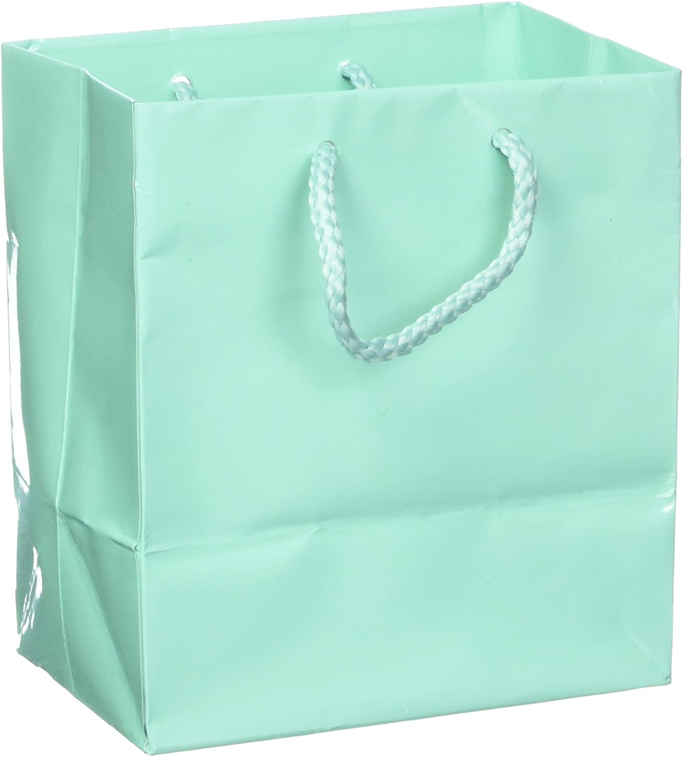 10 Gift Bags Pcs Large Fancy Robin/'s Egg Blue Glossy Finish Shopping Paper Sales