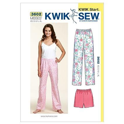 Amazon.com: Kwik Sew K3602 Sleep Pants and Shorts Sewing Pattern ...