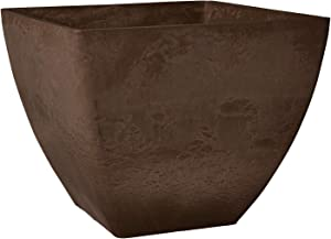 Arcadia Garden Products FB40C Simplicity Square Planter, 16 by 13-Inch, 16 by 16, Chocolate