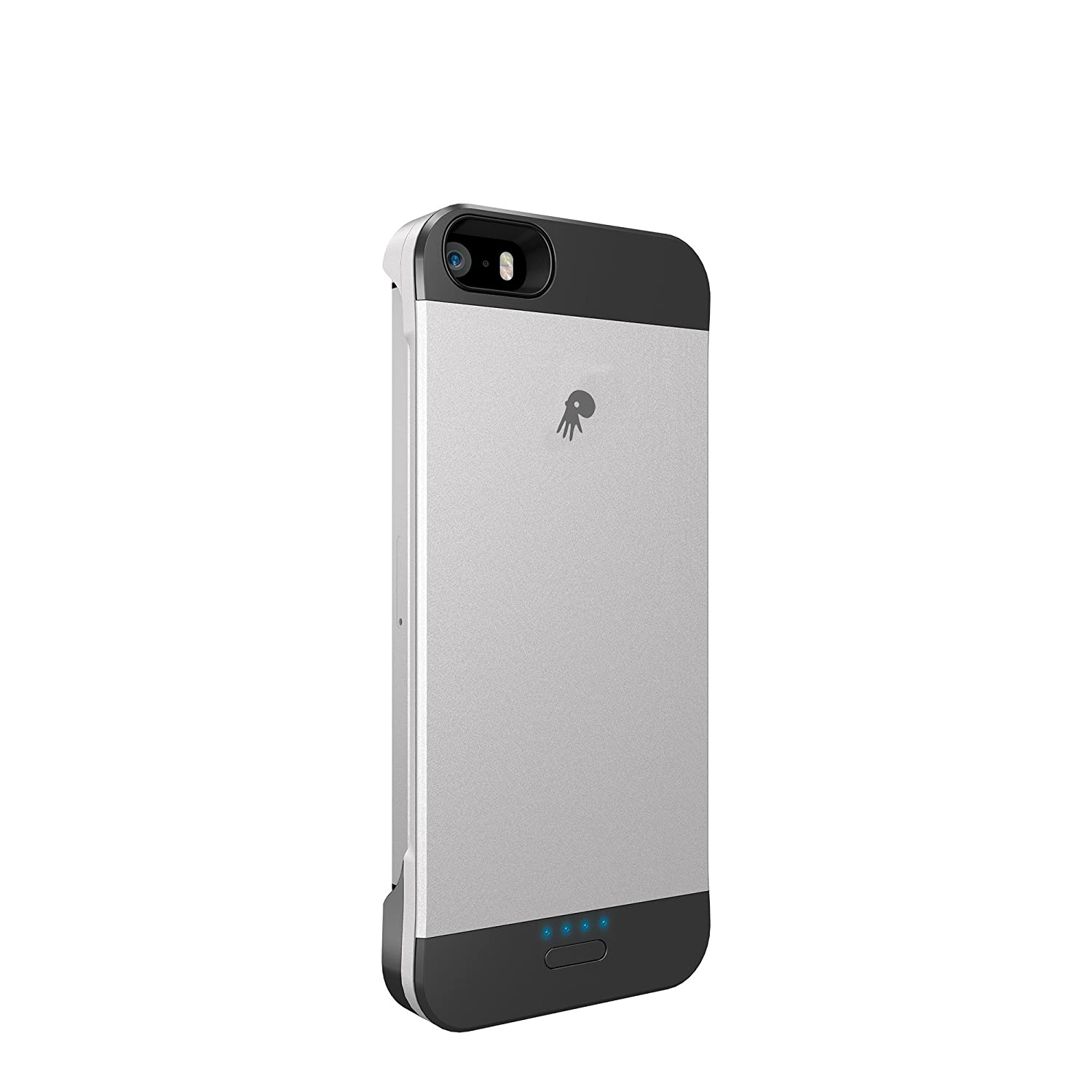 Powerskin Spare Rechargeable Battery Case for Apple iPhone 5/5S - Retail Packaging - Grey