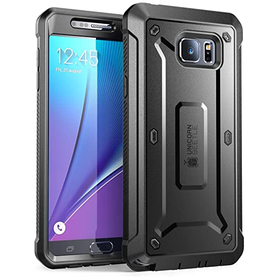 low priced fd0ef cd8e1 SUPCASE [Unicorn Beetle Pro Series] Case Designed for Samsung Galaxy Note  5, [Heavy Duty] Full-Body Rugged Cover with Built-in Screen Protector ...