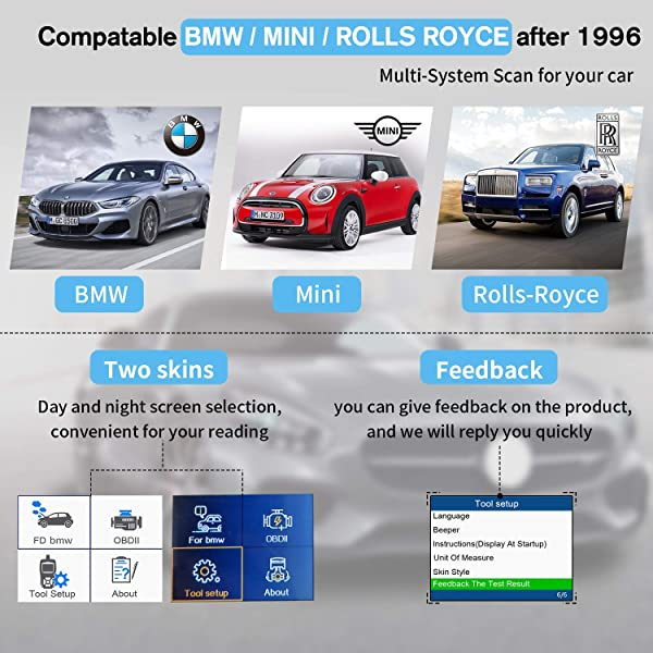Autophix 7810 can support most BMW models manufactured between 1998 to 2001.