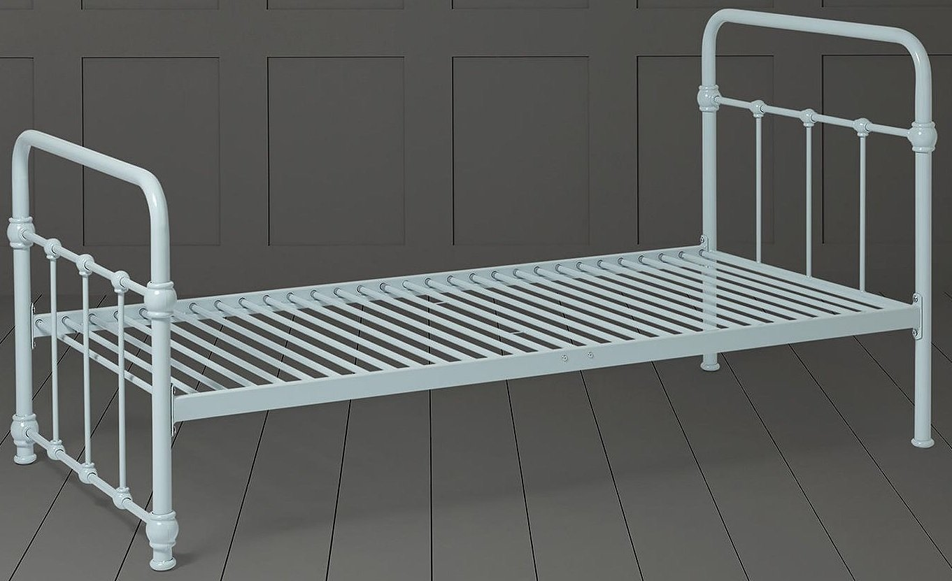 Tesco NEW Gosford Metal Single Bed Frame with Headboard & Footboard (Light Blue)