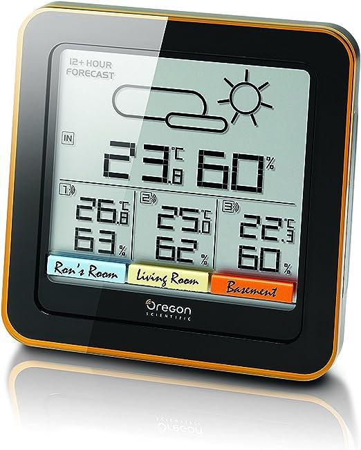 Oregon RAR 502SX Wetterstation weiß Wetter Temperatur Vorhersage