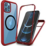 """imluckies Designed for 6.7"""" iPhone 12 Pro Max Case with Built-in Screen Protector, Glass & TPU Bumper, Full Body Protection S"""