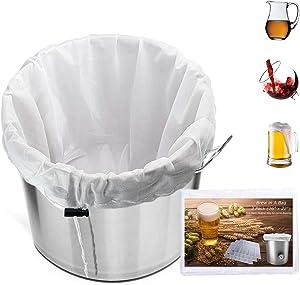 3 Pack Extra Large Brew Mesh Bag Reusable, 5 Gallon (26