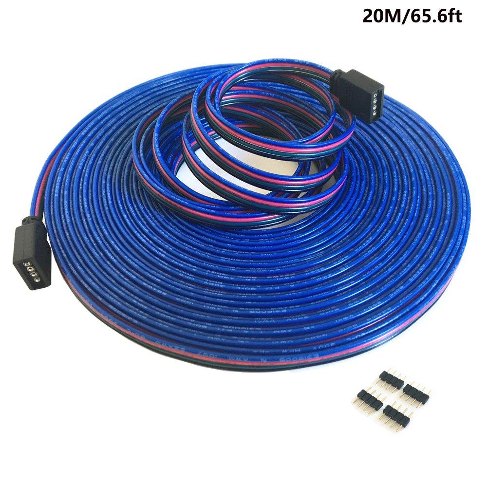 4-polig 20m RGB Verlängerungskabel Linie LED Kabel RGB Verbinder für ...