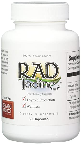 Rad Iodine - Organic Raw Thyroid Support, Improve Energy & Help Lose  Weight, Boost