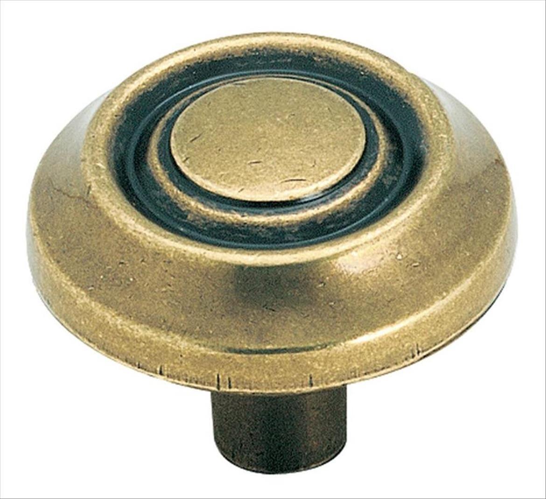 Amerock BP3423-BB Burnished Brass Traditional Knob
