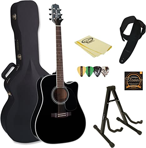 TAKAMINE ef341sc-kit-2 Pro Series Dreadnought acústica guitarra ...