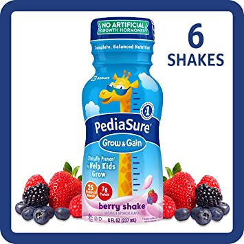 PediaSure Nutrition Drink, Berry, 8 Fluid Ounce (Pack of 6)