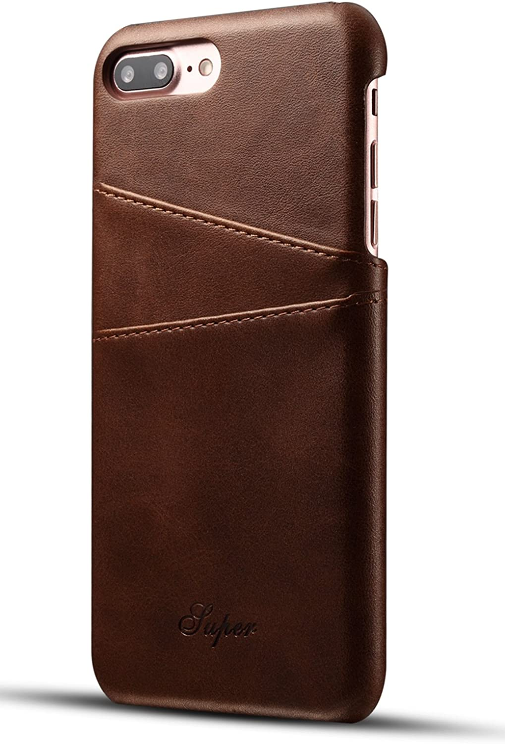 iPhone 8 Plus Wallet Phone Case, iPhone 7 Plus Case, XRPow Slim PU Leather Back Protective Case Cover With Credit Card Holder